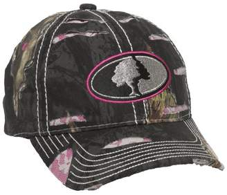 Ladies Mossy Oak Eclipse Adjustable Ripped / Frayed Lace Hat