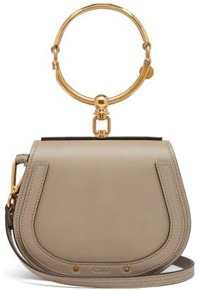Chloé Nile Small Leather And Suede Cross Body Bag - Womens - Grey