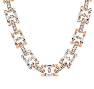 Steve Madden Geometric Crystal Glass Necklace