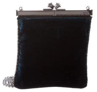 Prada Velvet Clutch Bag