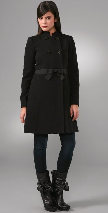 Marc By Marc Jacobs Wool Ottoman Coat