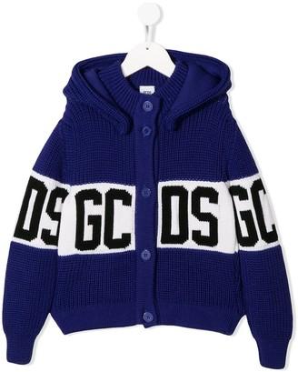 Gcds Kids logo contrast cardigan