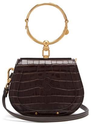 Chloé Nile Small Crocodile Effect Leather Cross Body Bag - Womens - Grey