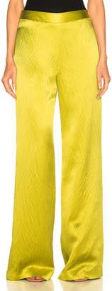 Brandon Maxwell Wide Leg Pant in Chartreuse | FWRD