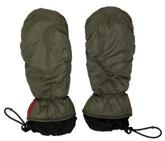 Prada Sport Leather-Trimmed Nylon Gloves