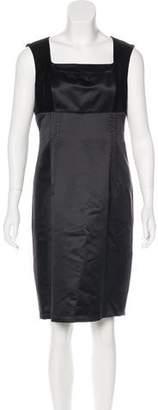 Aquilano Rimondi Aquilano.Rimondi Wool Velvet-Accented Dress
