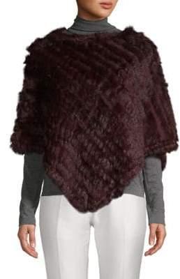 Adrienne Landau Dyed Rabbit Fur Poncho