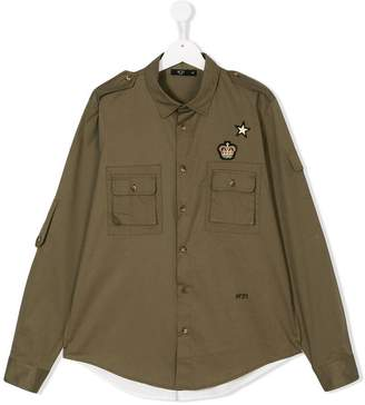 No.21 Kids TEEN military shirt