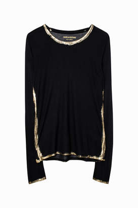 Zadig & Voltaire Willy Gold T-Shirt