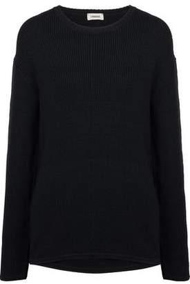 L'Agence Antonio Chantilly Lace-Paneled Cutout Wool Sweater