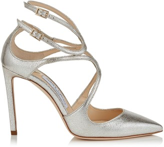 fcc5f580af1b Jimmy Choo LANCER 100 Champagne Glitter Leather Pointy Toe Pumps