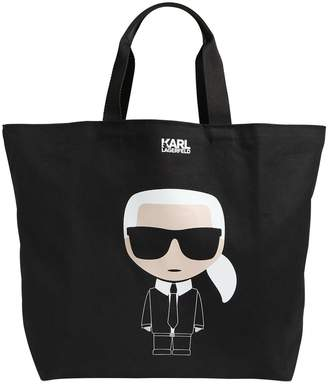 Karl Lagerfeld K/Ikonik Printed Canvas Tote Bag