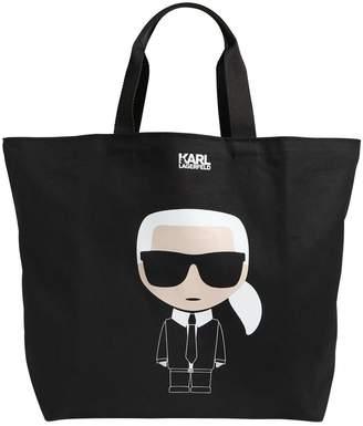 Karl Lagerfeld K/Ikonik Printed Canvas Tote Bag