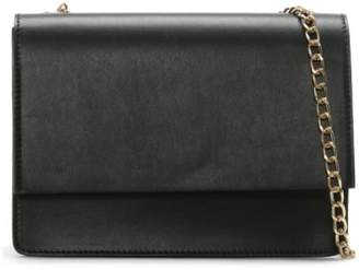 Daniel Milla Black Leather Chain Shoulder Bag