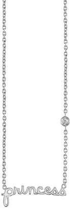 Sydney Evan Syd by Sterling Silver Diamond 'Princess' Pendant Necklace - 0.015 ctw