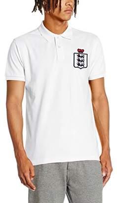 Toffs Retro Football Men's England Short Sleeve Polo Shirt