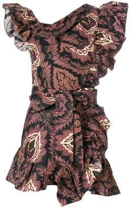 Isabel Marant rosewood print ruffle dress