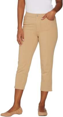 Denim & Co. Petite Comfy Knit Denim 5-Pocket Crop Jeans