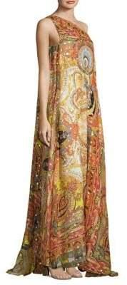 Etro 50th Anniversary One-Shoulder Silk Gown