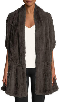 Halston Convertible Fur Wrap