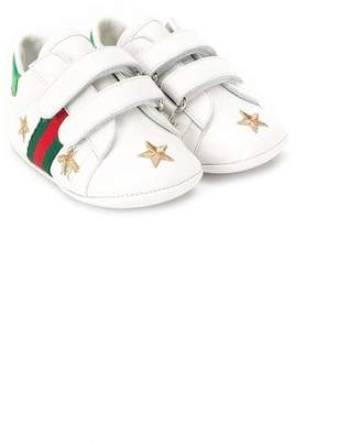Gucci Kids bee and star embroidered sneakers