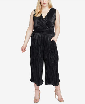 Rachel Roy Trendy Plus Size Metallic Pleated Jumpsuit