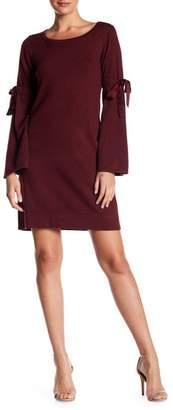 Max Studio Tie Sleeve Knit Dress