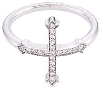 Silver Cross Lynn Ban Diamond ring