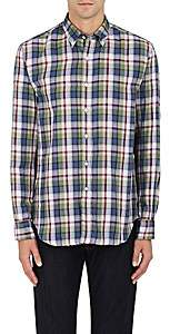 Barneys New York MEN'S PLAID DOUBLE-FACED COTTON GAUZE SHIRT