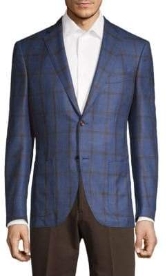Luciano Barbera Classic-Fit Wool, Silk & Linen Sportcoat