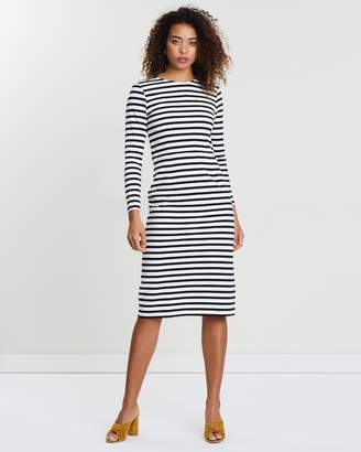 J.Crew Long Sleeve Striped Dress