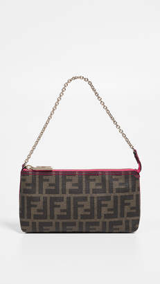 Fendi What Goes Around Comes Around Pink Coated Canvas Pouch