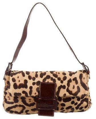 Fendi Ponyhair Baguette Bag