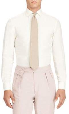 Ralph Lauren Purple Label Silk& Linen Button-Front Shirt