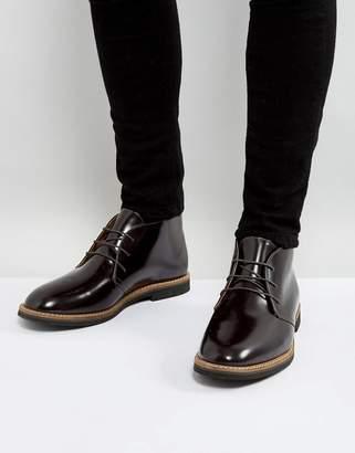 Farah Smith Hi Shine Short Lace Up Boots