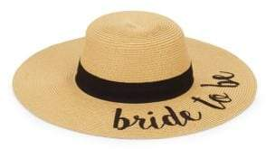 Bride To Be Embroidered Sun Hat