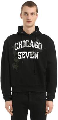 Oamc Chicago Seven Hooded Cotton Sweatshirt