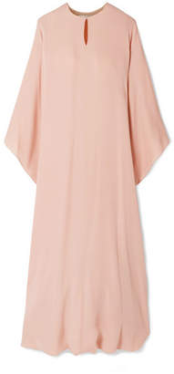 Reem Acra - Draped Silk-georgette Midi Dress - Blush