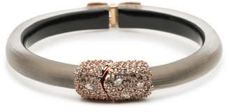 Alexis Bittar Crystal Encrusted Capped Hinge Bracelet