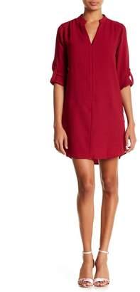 Lush 3\u002F4 Length Sleeve Novak Shift Dress