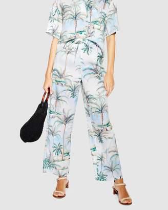 Topshop Hawaiian Wide Leg Trousers