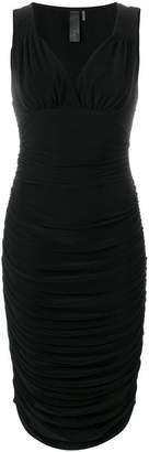 Norma Kamali ruched V-neck dress