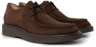 Tod's Suede Derby Shoes - Dark brown