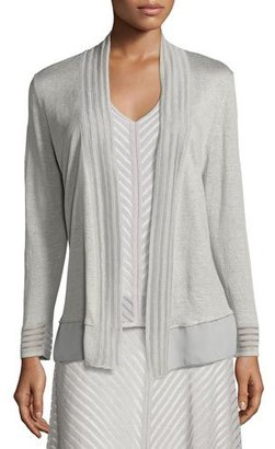 NIC+ZOE Sheer Striped Cardigan $148 thestylecure.com