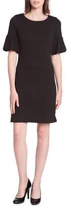 Tommy Hilfiger Diamond Knit Puff-Sleeve Dress