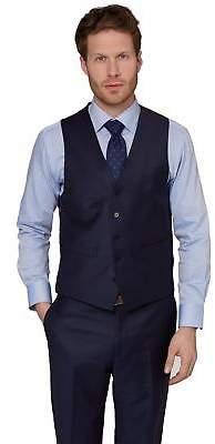 Ermenegildo Zegna Cloth Mens Regular Fit Naples Blue Waistcoat