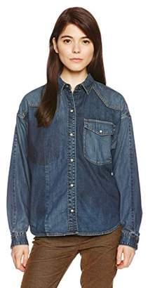 goa (ゴア) - (goa) goa 10oz×7ozDENIMリメイクオーバーサイズシャツ 21743028 ブルー Free