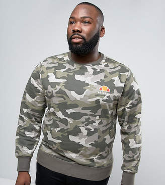 Ellesse Sweatshirt With Small Logo In Camo