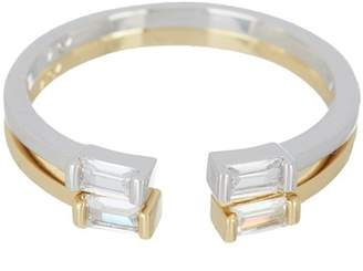 Nordstrom Rack CZ Emerald Cut Rings - Set of 2