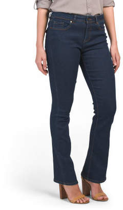 Back Flap Pocket Skinny Bootcut Jeans